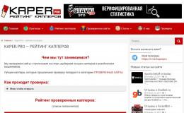 Обзор сайта Kaper.pro